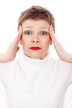 Een vrouw met stress