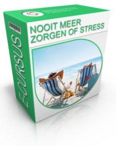 Cover van online cursus nooit meer zorgen of stress