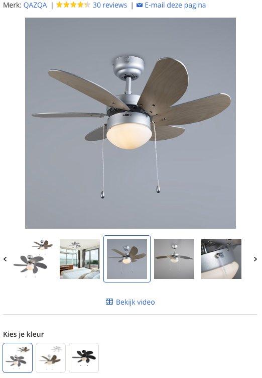 Een afbeelding van een grijze plafondventilator